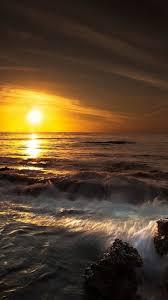 coastal breaking waves android phone wallpaper smartphone