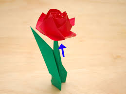 How To Make Easy Paper Flowers For Cards - how to fold a paper rose with pictures wikihow