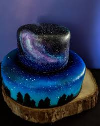 How To Make A Wedding Album I Was Asked To Make A Galaxy Themed Cake And Cupcakes For A