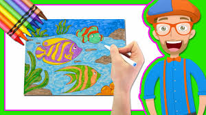 learn colors drawing blippi coloring book