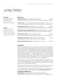 Portfolio Resume Sample by Bio Cv Resume Example Free Resume Cv Example