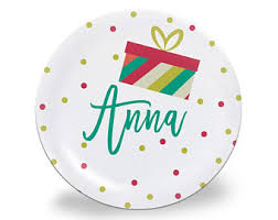 personalized plate children s personalized plate modern plate