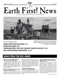 earth first news 24 samhain fall 2016 by earth first journal