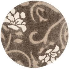 safavieh classic shag white 8 ft x 8 ft round area rug sg140a 8r