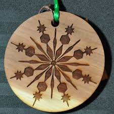 laser engraved aromatic cedar gift tags ornaments with