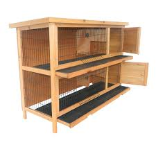 Outdoor Rabbit Hutch Plans Pawhut 2 Story Stacked Wooden Outdoor Rabbit Hutch Guinea Pig