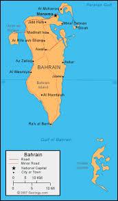 map of bahrain bahrain map and satellite image