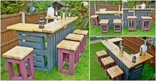 Palet Patio Pallet Patio Bar How To Instructions