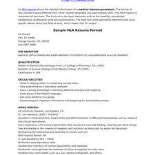 Mla Resume Mla Resume Examples Of Resumes Proper Mla Resume Format