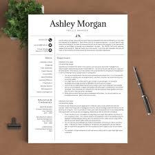 Perfect Resume Templates Professional Resume Template The Ashley Morgan U2013 Landed Design