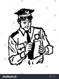 vintage martini clipart policeman writing ticket retro clipart illustration stock vector