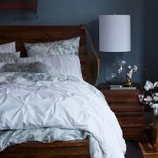 Pillow And Duvet Set Organic Cotton Pintuck Duvet Cover Shams White West Elm