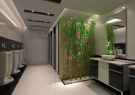 toilet decorated with artificial trees 3d model max