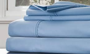 bedroom blue linen sheets neutral linen bedding white bedding