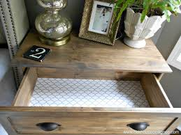 nightstand simple nightstand drawer liner tarva hack the new