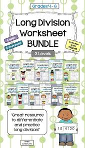 halloween multiplication and long division bundle worksheets