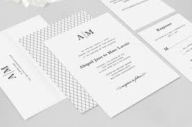modern wedding invitations abigail wedding invitation suite sle dearlc