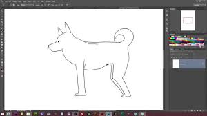 how to draw a dog side view drawing howto photoshop youtube