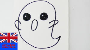 draw a kawaii ghost in 1 minute for halloween cool ghost for