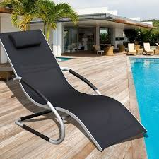 Chaise Lounge Pool Sundale Outdoor Deluxe Aluminum Patio Garden Beach Yard Pool