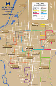 Montana State Campus Map by Walking For The Health Of It Ravalli County Montana State