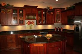 Cherry Wood Kitchen Cabinets With Black Granite Modern Style Cherry Kitchen Cabinets Black Granite Black Granite