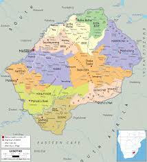 Define Political Map Detailed Political Map Of Lesotho Ezilon Maps
