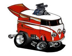 volkswagen van clipart cartoon vw muscle van cartoon car drawings pinterest cartoon