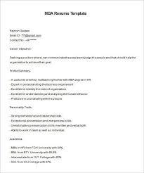 Resume For Mba Application Mba Resume Mba Resume Format Mba Resume 9 Free Samples