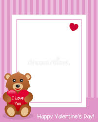 s day teddy i you teddy vertical frame stock vector illustration of