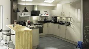 Santini Gloss Grey Slab Kitchen Cabinet Doors  Fronts Kitchens - Slab kitchen cabinet doors