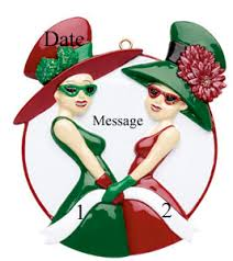 buy friends and green hats ornament personalized