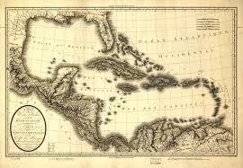 A Map Of The Caribbean by A Map Of The West Indies And Of The Mexican Gulph Sic 1806