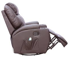 Leather Recliner Chair With Cup Holder Foxhunter Bonded Leather Sofa Massage Recliner Chair Swivel