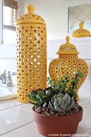 master bathroom makeover coral and yellow no 2 pencil