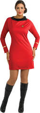 star trek classic red dress deluxe plus costume