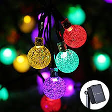 icicle solar string lights 20ft 30 led