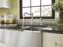 low pressure kitchen faucet nickel farmhouse style kitchen faucets centerset single handle