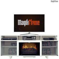 chronus iii high gloss white media center electric fireplace wall