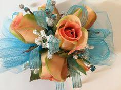 Teal Corsage Prom Wrist Corsage Pink Wrist Corsage Formal Dance Corsage