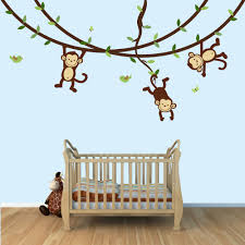 Bird Wall Decals For Nursery by Monkey Wall Decals Swinging Monkeys On Vines Nursery Wall Decal