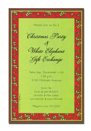 christmas border writing paper christmas open house invitations christmas open house a classic christmas border invitation decorated with red poinsettia petals and green berries it has deep chocolate accents with a green center for a
