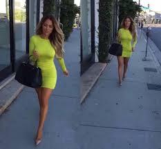 dress lime green neon short bodycon tight open back open