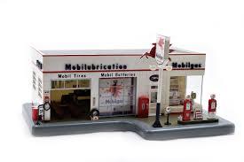 antique gas station lights for sale buy vintage danbury mint mobil gas service station light up clock