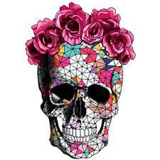 flower crown sugar skull drawing clipartxtras