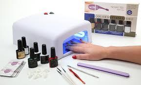 amazon com nchan u0027ted beauty gel nail kit with uv dryer