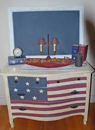 American Woodcraft Furniture The American Flag Dresser That I Painted Americana