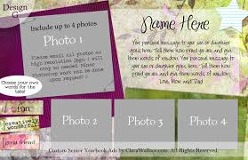 senior yearbook ad templates intertwined and inspired custom senior yearbook ads