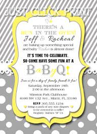 bun in the oven baby bbq babyq shower invitation printable uprint