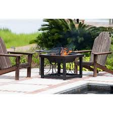 Hammer Wooden Picnic Tables And Outdoor Serving Tables Discover by Fire Sense Hammer Tone Bronze Finish Cocktail Table Fire Pit Target